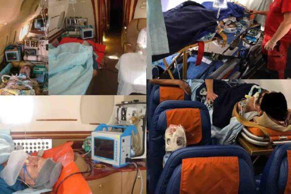 Санитарная авиация или перевозка больных на самолете.